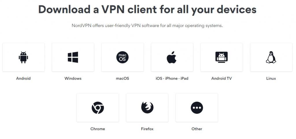 NordVPN Multi-Platform Support