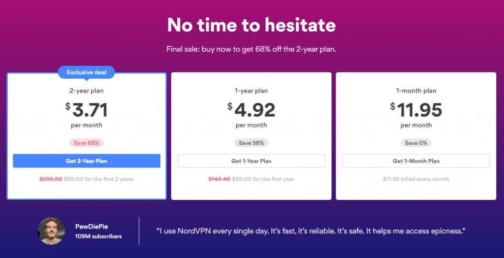 NordVPN Plans & Pricing